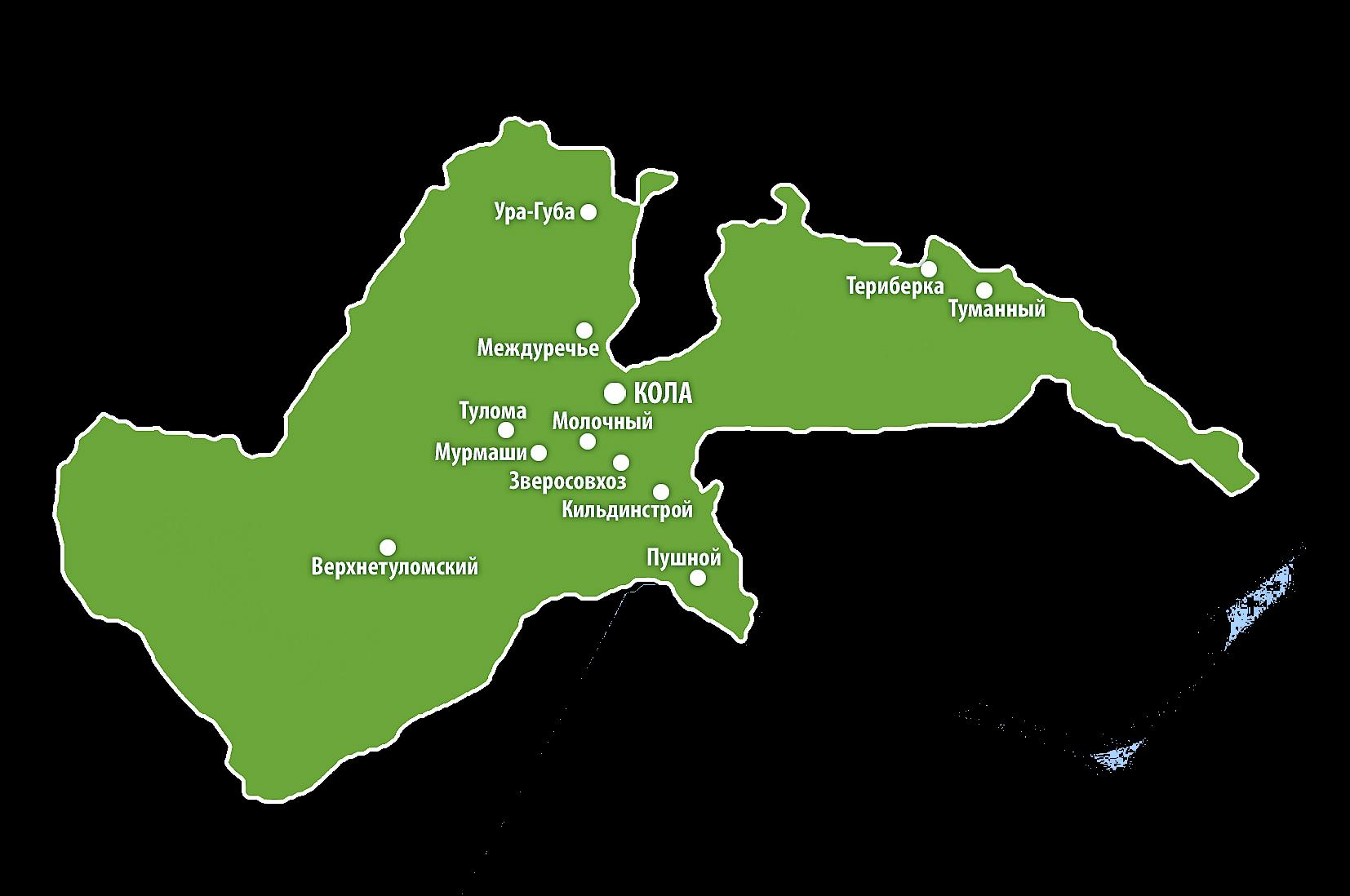Карта Кольского района