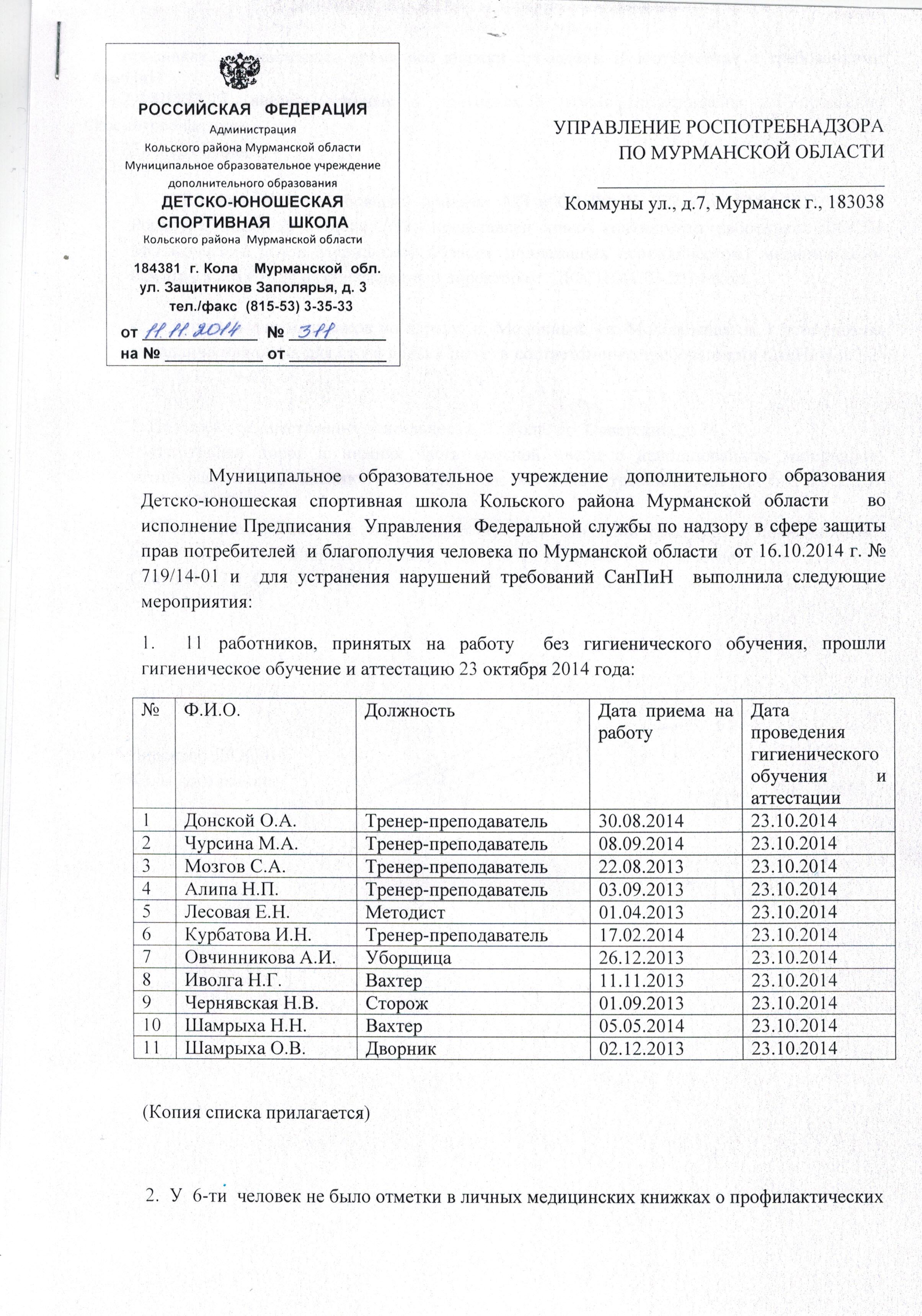 Гигиеническая аттестация в медицинских книжках Москва Отрадное